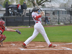 "<div class=""source"">Josh Claywell</div><div class=""image-desc"">Taylor County's Grant McQueary hits a first-pitch home run against Adair County last week.</div><div class=""buy-pic""><a href=""/photo_select/66886"">Buy this photo</a></div>"