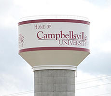 "<div class=""source"">Jeff Moreland</div><div class=""image-desc"">This 1-million-gallon water tank, known by the Campbellsville Water Company as the university tank, is the primary water storage source for the community. The tank was drained when a leak occurred Saturday evening. It is one of five tanks in service, and the largest. Two other 1-million-gallon tanks are under construction.</div><div class=""buy-pic""><a href=""/photo_select/65316"">Buy this photo</a></div>"