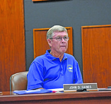 """<div class=""""source"""">photo/JOSH CLAYWELL</div><div class=""""image-desc"""">District 2 Magistrate John Gaines listens during Tuesday night's fiscal court meeting.</div><div class=""""buy-pic""""><a href=""""/photo_select/70072"""">Buy this photo</a></div>"""