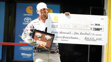 "<div class=""source"">Jordan Alves/CU Sports Information</div><div class=""image-desc"">Campbellsville University bass fishing team member Nick Ratliff poses with his $7,500 check from Carhartt for winning the 2018 Carhartt Bassmaster College Series Classic Bracket presented by Bass Pro Shops. Ratliff also won a Toyota Tundra truck and a Nitro Z20 bass boat.</div><div class=""buy-pic""><a href=""/photo_select/67525"">Buy this photo</a></div>"
