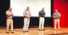 "<div class=""source"">Photo/Submitted</div><div class=""image-desc"">New Taylor County School Resource Officer Tim Coppage, far right, speaks at a recent district safety training. He is joined by his fellow SROs, from left, Bobby Gribbins, Robby VanCleave and Ricky Underwood.</div><div class=""buy-pic""><a href=""/photo_select/67453"">Buy this photo</a></div>"