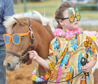 Samantha Akridge of Campbellsville and her horse dress the part for the costume class.