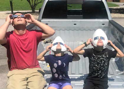 Submitted from the Facebook profile of Ashlee Matney Dressed for the eclipse.