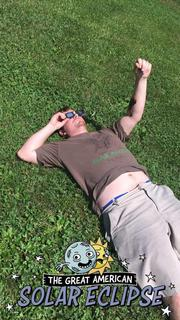 Submitted from the Facebook profile of Tonya Bogues  Marshall Bogues found a comfy spot while watching the eclipse