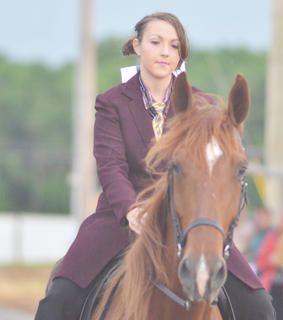 Megan Graham of Campbellsville rides in the Tommie Johns horse show.