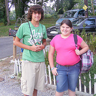 Their mother Paula snapped a photo of Taylor and Tabitha Burress on Aug. 3, the first day of school. This is Taylor's first day of high school at Campbellsville High School and Tabitha's first day of middle school at Campbellsville Middle School.