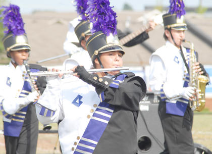 Thirteen area bands competed at the annual Taylor County Marching Invitational on Saturday at Taylor County High School. Katy Lambert is a flute player in the CHS band.