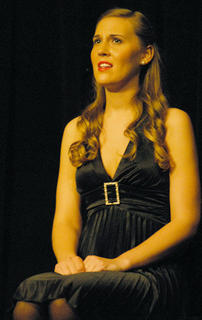 "Lacy Mudd of Campbellsville performs a solo during a ""Tribute to the Tonys."""