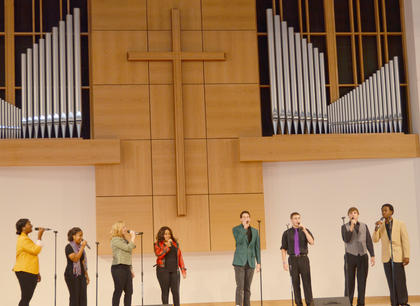 Campbellsville Singers perform a Homecoming concert on Saturday.