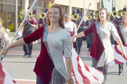 Brooke Ferguson of Lebanon Junction performs with the CU Tiger Marching Band during Saturday's Homecoming parade.