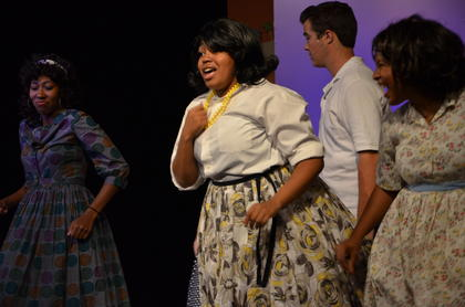 Singing, dancing and hairspray. Campbellsville University presented 'Hairspray' last week. In the play, pleasantly plump teenager Tracy Turnblad teaches 1962 Baltimore a thing or two about integration after landing a spot on a local TV dance show, the Corny Collins Show.