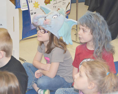 Students at CES dress up in their best Dr. Seuss gear on Friday.