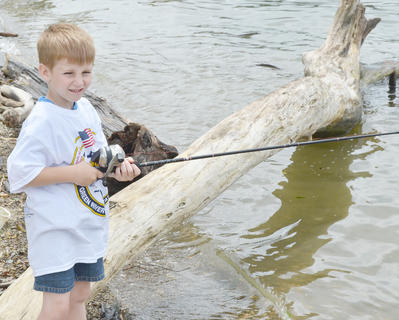 Ethan Sweeney of Campbellsville fishes at Green River Lake.