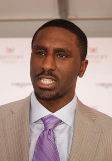 Former UK basketball star Patrick Patterson chats before walking the red carpet at Saturday's Kentucky Derby 138.