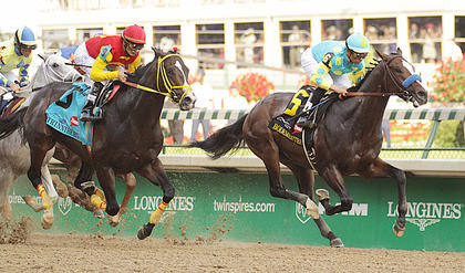 Bodemeister and Trinniberg run in Saturday's Kentucky Derby.