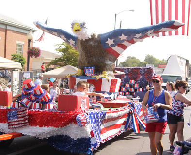 This is one of many patriotic floats that took part in the Fourth of July parade in Campbellsville.