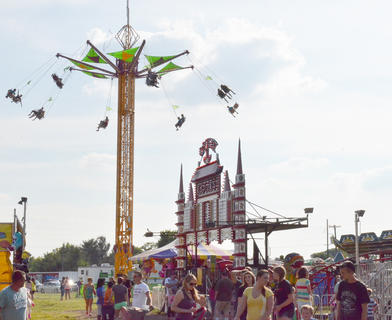 Fairgoers came out in groves on Tuesday night, which was Family Night at the fair.