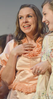 Bethany Shively of Campbellsville portrays Gertie Cummings.