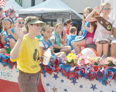 Girl Scouts were this year's grand marshals. The Girl Scouts are celebrating their 100th birthday this year.