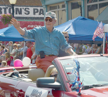 Sen. Mitch McConnell, R-Kentucky, was one of several officials who attended the parade.