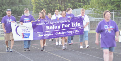 Relay for Life events were Friday and Saturday at Taylor County High School's track. Cancer survivors take the first lap around the track.