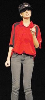 """Before """"SeussOdyssey,"""" TCHS drama students performed monologues. Here, Katelyn Howell tells what it's like to work at a fast food restaurant in """"The McDonald's Monologue."""""""