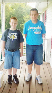 This is the first day of school for my boys going into Campbellsville Middle School. Chase Swafford is in the eighth grade and Spencer is in fifth grade.