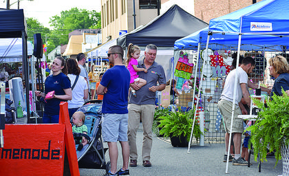 Part of South Court Street was shut down on Friday to accommodate the many vendors that were at this month's Court & Main Market event.
