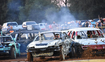 The Demolition Derby was a popular event at the Taylor County Fair.