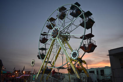 A new Ferris Wheel was one of multiple additions to the carnival at this year's fair.