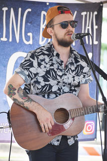 Justin Nelson, of Nashville, performs at Folk Fest in Downtown Campbellsville.