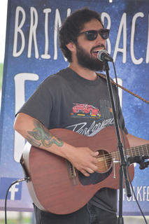 Glen Yoder performs at Folk Fest in downtown Campbellsville Saturday