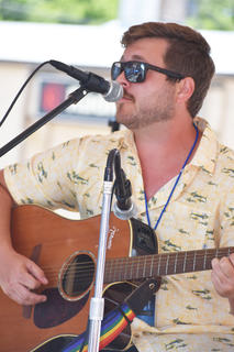 Trentin Corbin of Campbellsville performs at Folk Fest.