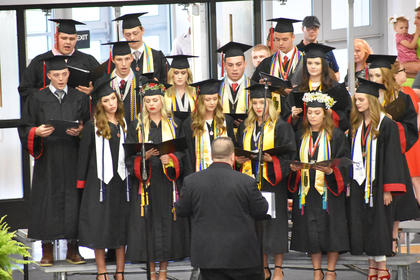 TCHS Senior Choir members perform at graduation.