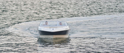 Boaters take off near the state park boat ramp.