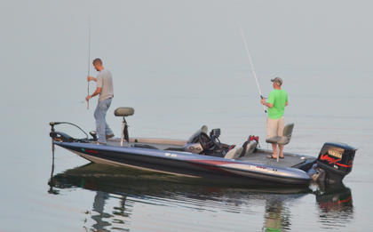 Fishermen see how the fish are biting near Green River Dam.