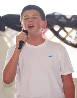 Jacob Hayes, of Campbellsville, finished second at the Coca-Cola Talent Contest on Friday night.