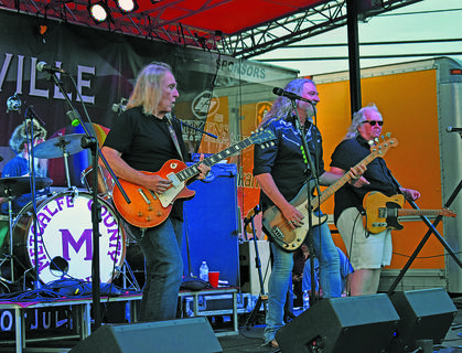The Kentucky Headhunters headlined the Campbellsville/Taylor County Fourth of July's Party in the Park, sponsored by INFAC North America.