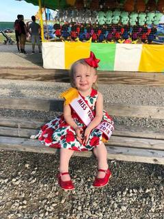 The 2018 Toddler Miss Taylor County Fair is Brycelyn Potts.