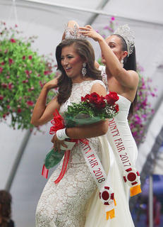 Morgan McKay Harvey, 17, of Columbia, Kentucky, is crowned Miss Taylor County Fair Tuesday. Harvey is a senior at Adair County High School, and the daughter of James and Jill Harvey.