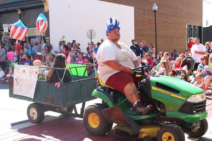 Residents decorated their lawn mowers, ATVS and other vehicles for the parade.