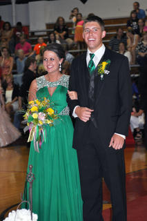 TCHS students Brittany Speer and Grant Cox chose emerald green for their prom attire.