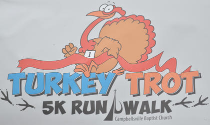 Campbellsville Baptist Church hosted a Turkey Trot 5K run/walk on Saturday, Nov. 16, with proceeds benefiting Green River Ministries. Activities Pastor Justin McDonald said $1,237 was raised. Lucas Judd won the race. Gary Tucker came in second, Ryan Clenney was third, Marc Brock took fourth place and Jay Rowlett rounded out the Top 5 finishers.
