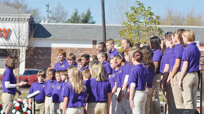 The Campbellsville Middle School Choir sings.