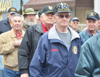 Taylor County Fire & Rescue Assistant Chief Randy Bricken Sr., also a Vietnam veteran, walks in the parade.